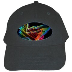 Dancing Northern Lights, Abstract Summer Sky  Black Baseball Cap by DianeClancy