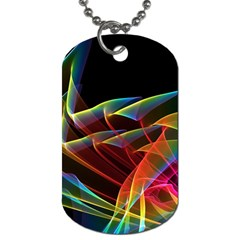 Dancing Northern Lights, Abstract Summer Sky  Dog Tag (two Sided)  by DianeClancy
