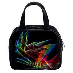 Dancing Northern Lights, Abstract Summer Sky  Classic Handbag (two Sides) by DianeClancy