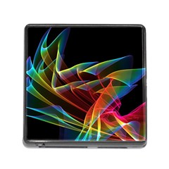 Dancing Northern Lights, Abstract Summer Sky  Memory Card Reader With Storage (square) by DianeClancy