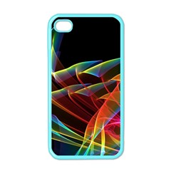 Dancing Northern Lights, Abstract Summer Sky  Apple Iphone 4 Case (color) by DianeClancy