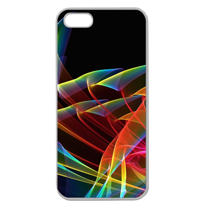 Dancing Northern Lights, Abstract Summer Sky  Apple Seamless iPhone 5 Case (Clear)