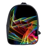 Dancing Northern Lights, Abstract Summer Sky  School Bag (XL) Front