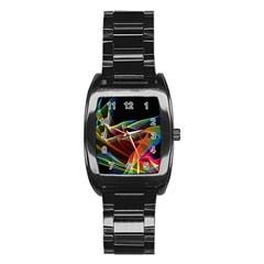 Dancing Northern Lights, Abstract Summer Sky  Stainless Steel Barrel Watch