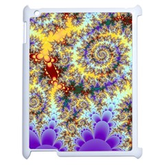 Desert Winds, Abstract Gold Purple Cactus  Apple Ipad 2 Case (white) by DianeClancy
