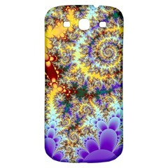Desert Winds, Abstract Gold Purple Cactus  Samsung Galaxy S3 S Iii Classic Hardshell Back Case by DianeClancy