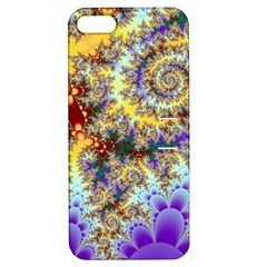 Desert Winds, Abstract Gold Purple Cactus  Apple Iphone 5 Hardshell Case With Stand by DianeClancy