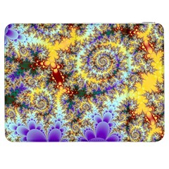 Desert Winds, Abstract Gold Purple Cactus  Samsung Galaxy Tab 7  P1000 Flip Case by DianeClancy