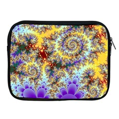 Desert Winds, Abstract Gold Purple Cactus  Apple Ipad Zippered Sleeve by DianeClancy