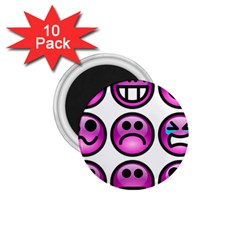 Chronic Pain Emoticons 1 75  Button Magnet (10 Pack) by FunWithFibro