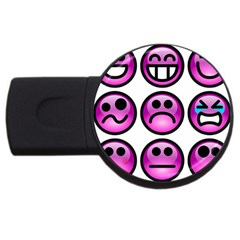 Chronic Pain Emoticons 4gb Usb Flash Drive (round) by FunWithFibro