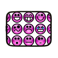 Chronic Pain Emoticons Netbook Sleeve (small) by FunWithFibro