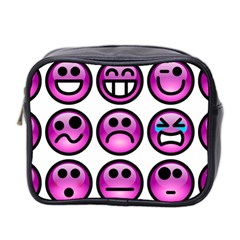 Chronic Pain Emoticons Mini Travel Toiletry Bag (two Sides) by FunWithFibro
