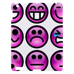 Chronic Pain Emoticons Apple Ipad 3/4 Hardshell Case by FunWithFibro
