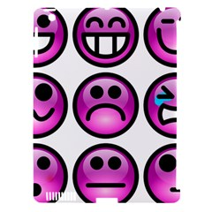 Chronic Pain Emoticons Apple Ipad 3/4 Hardshell Case (compatible With Smart Cover) by FunWithFibro
