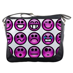 Chronic Pain Emoticons Messenger Bag by FunWithFibro