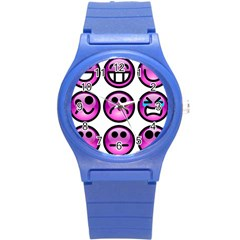 Chronic Pain Emoticons Plastic Sport Watch (small) by FunWithFibro