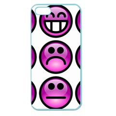Chronic Pain Emoticons Apple Seamless Iphone 5 Case (color) by FunWithFibro