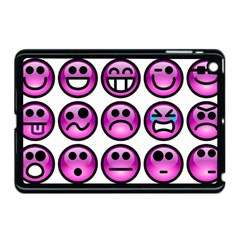 Chronic Pain Emoticons Apple Ipad Mini Case (black) by FunWithFibro