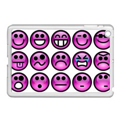 Chronic Pain Emoticons Apple Ipad Mini Case (white) by FunWithFibro