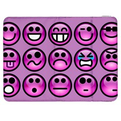 Chronic Pain Emoticons Samsung Galaxy Tab 7  P1000 Flip Case by FunWithFibro
