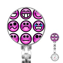 Chronic Pain Emoticons Stainless Steel Nurses Watch by FunWithFibro