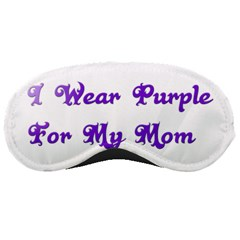 I Wear Purple For My Mom Sleeping Mask by FunWithFibro