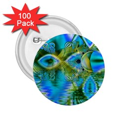 Mystical Spring, Abstract Crystal Renewal 2 25  Button (100 Pack)