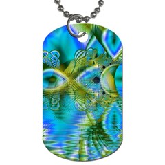 Mystical Spring, Abstract Crystal Renewal Dog Tag (one Sided) by DianeClancy