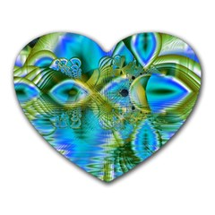 Mystical Spring, Abstract Crystal Renewal Mouse Pad (heart) by DianeClancy