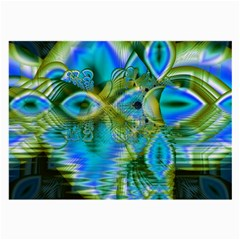 Mystical Spring, Abstract Crystal Renewal Glasses Cloth (large, Two Sided) by DianeClancy