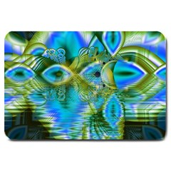 Mystical Spring, Abstract Crystal Renewal Large Door Mat by DianeClancy