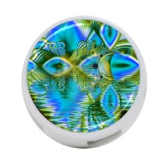 Mystical Spring, Abstract Crystal Renewal 4 Port Usb Hub (one Side) by DianeClancy