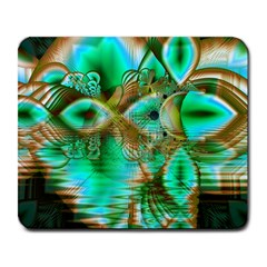 Spring Leaves, Abstract Crystal Flower Garden Large Mouse Pad (rectangle) by DianeClancy
