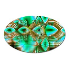 Spring Leaves, Abstract Crystal Flower Garden Magnet (oval) by DianeClancy