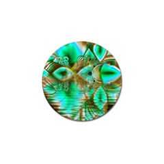 Spring Leaves, Abstract Crystal Flower Garden Golf Ball Marker by DianeClancy