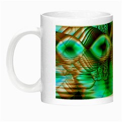 Spring Leaves, Abstract Crystal Flower Garden Glow In The Dark Mug by DianeClancy