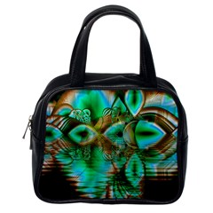 Spring Leaves, Abstract Crystal Flower Garden Classic Handbag (one Side) by DianeClancy