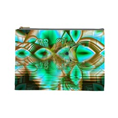Spring Leaves, Abstract Crystal Flower Garden Cosmetic Bag (large) by DianeClancy