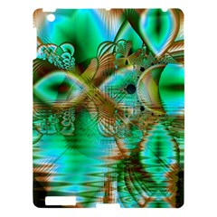 Spring Leaves, Abstract Crystal Flower Garden Apple Ipad 3/4 Hardshell Case by DianeClancy