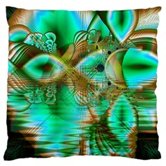 Spring Leaves, Abstract Crystal Flower Garden Large Cushion Case (single Sided)  by DianeClancy