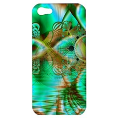 Spring Leaves, Abstract Crystal Flower Garden Apple Iphone 5 Hardshell Case by DianeClancy
