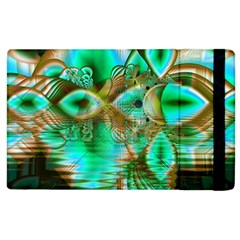 Spring Leaves, Abstract Crystal Flower Garden Apple Ipad 3/4 Flip Case by DianeClancy