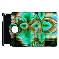 Spring Leaves, Abstract Crystal Flower Garden Apple Ipad 2 Flip 360 Case by DianeClancy