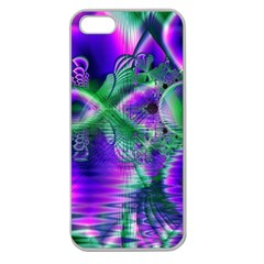 Evening Crystal Primrose, Abstract Night Flowers Apple Seamless Iphone 5 Case (clear) by DianeClancy
