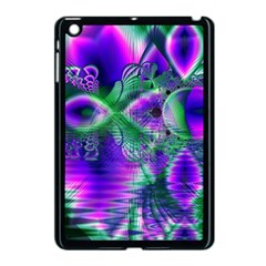 Evening Crystal Primrose, Abstract Night Flowers Apple Ipad Mini Case (black) by DianeClancy