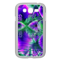 Evening Crystal Primrose, Abstract Night Flowers Samsung Galaxy Grand Duos I9082 Case (white) by DianeClancy