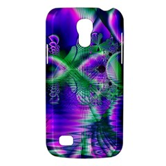 Evening Crystal Primrose, Abstract Night Flowers Samsung Galaxy S4 Mini (gt I9190) Hardshell Case  by DianeClancy