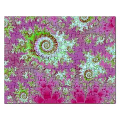 Raspberry Lime Surprise, Abstract Sea Garden  Jigsaw Puzzle (rectangle) by DianeClancy