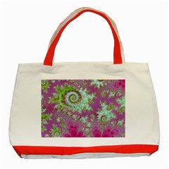 Raspberry Lime Surprise, Abstract Sea Garden  Classic Tote Bag (red) by DianeClancy